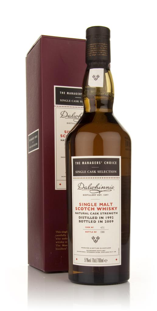 Dalwhinnie 1992 - Managers Choice Single Malt Whisky