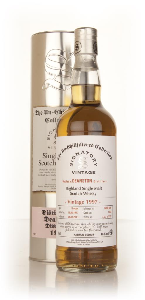 Deanston 15 Year Old 1997 (cask 1343) - Un-Chillfiltered (Signatory) Single Malt Whisky