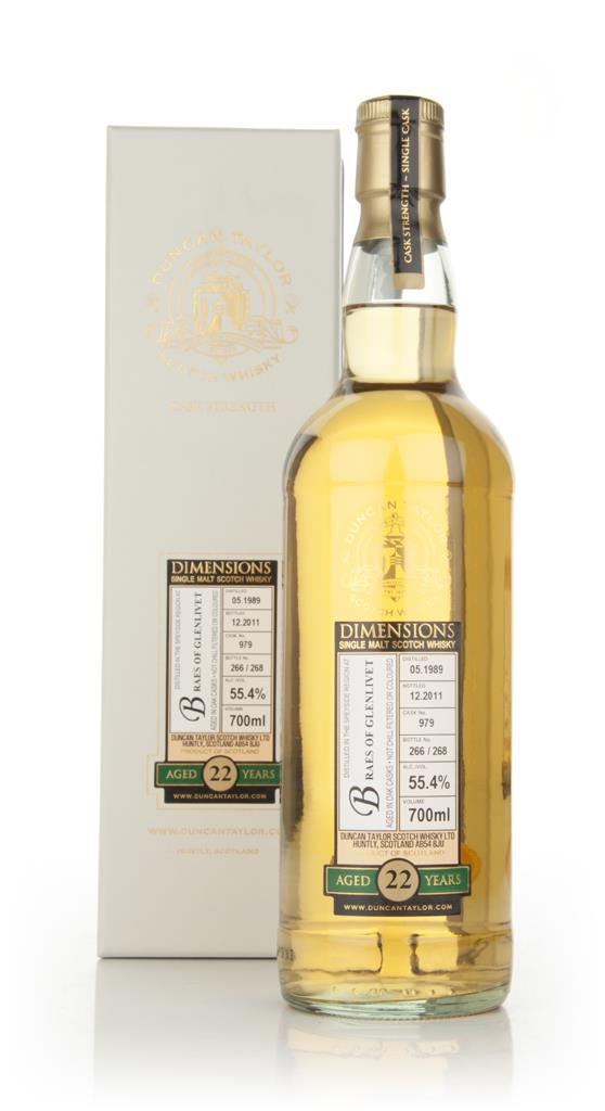 Braes Of Glenlivet 22 Year Old 1989 - Dimensions (Duncan Taylor) Single Malt Whisky