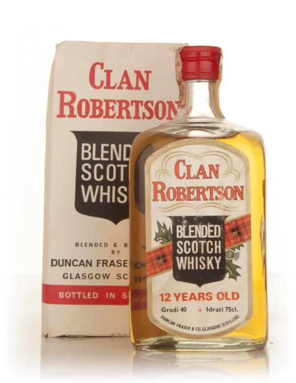 Duncan Fraser Clan Robertson 12 Year Old - 1960s Blended Whisky