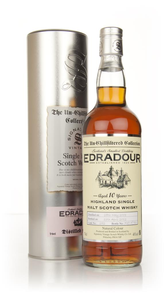 Edradour 10 Year Old 2001 - Un-Chillfiltered (Signatory) Whisky