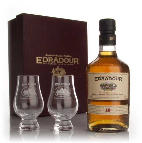 Edradour 10 Year Old With 2 Glasses Single Malt Whisky