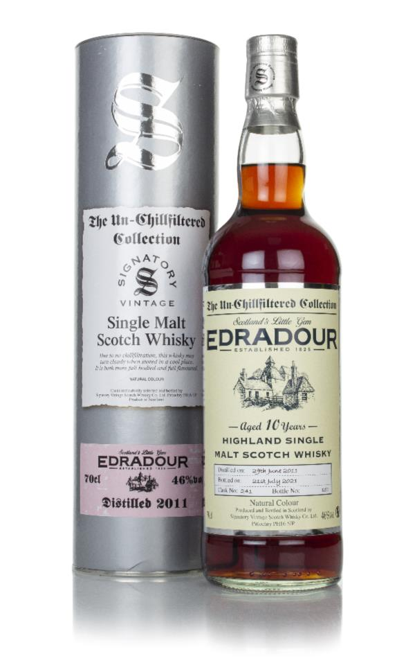 Edradour 10 Year Old 2011 (cask 241) - Un-Chillfiltered Collection (Si Single Malt Whisky