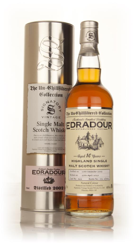 Edradour 10 Year Old 2002 (cask 463) - Un-Chillfiltered (Signatory) Single Malt Whisky