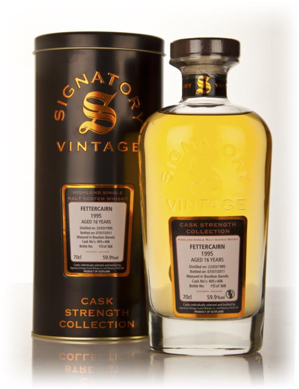 Fettercairn 16 Year Old 1995 - Cask Strength Collection (Signatory) Single Malt Whisky