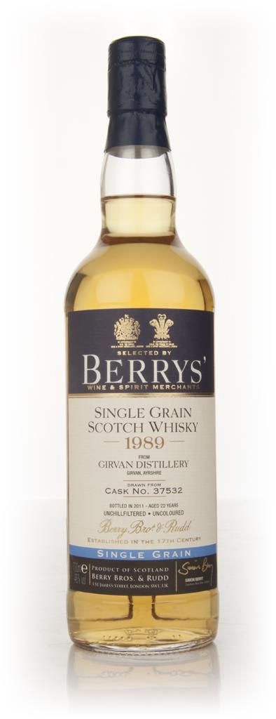 Girvan 1989 Cask 37532 (Berry Brothers and Rudd) Single Grain Whisky
