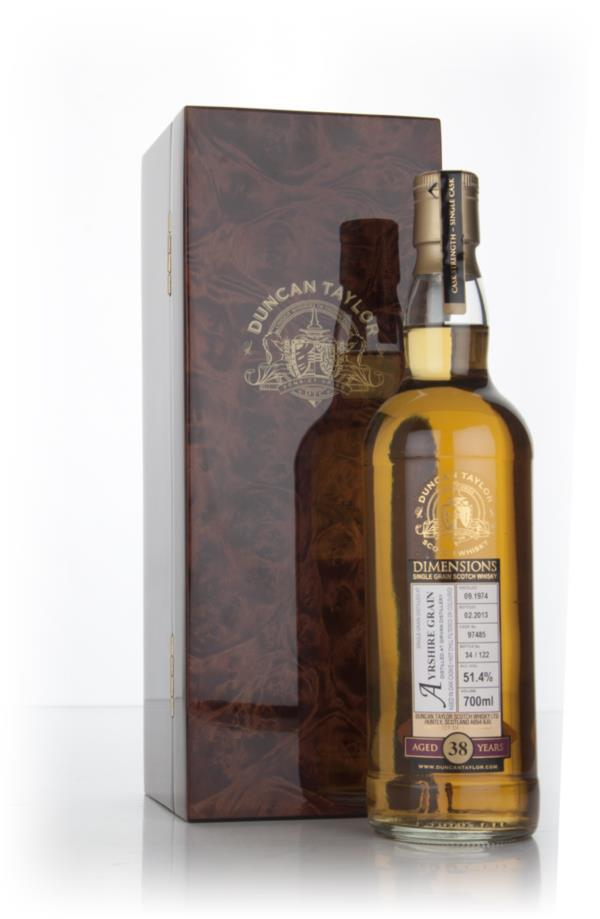 Ayrshire Grain 38 Year Old 1974 (cask 97485) - Dimensions (Duncan Tayl Grain Whisky