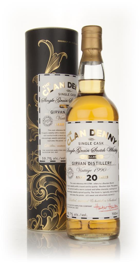 Girvan 20 Year Old 1990 - Clan Denny Grain Whiskies (Douglas Laing) Grain Whisky