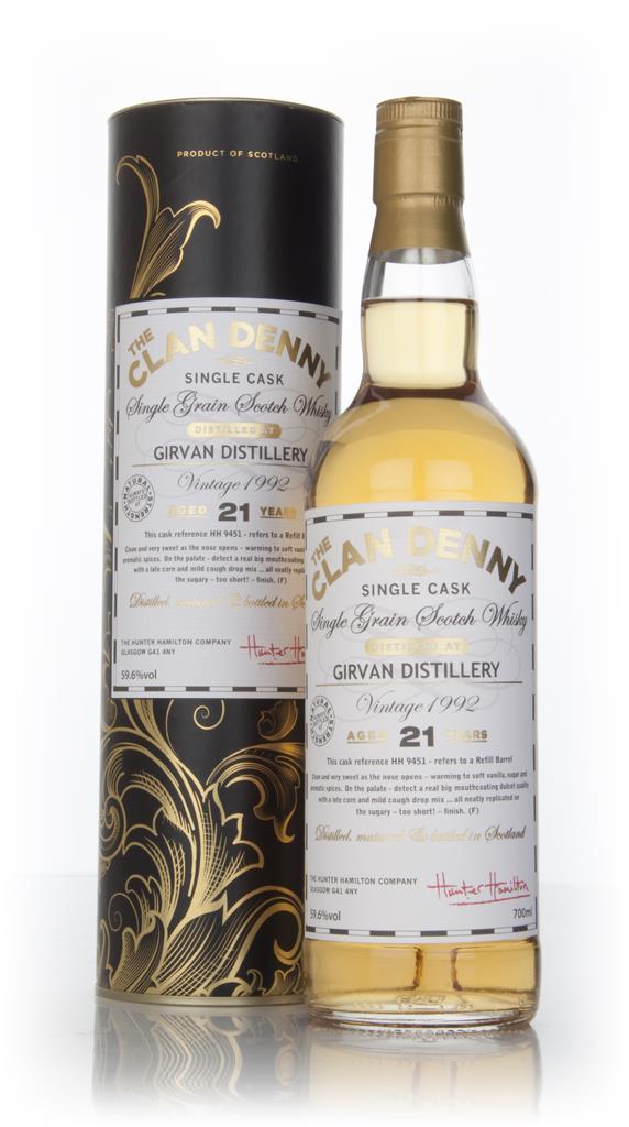 Girvan 21 Year Old 1992 Cask 9451 - The Clan Denny (Douglas Laing) Grain Whisky