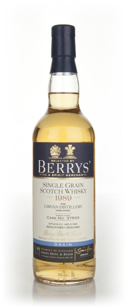 Girvan 22 Year Old 1989 (cask 37533) (Berry Bros. & Rudd) Grain Whisky