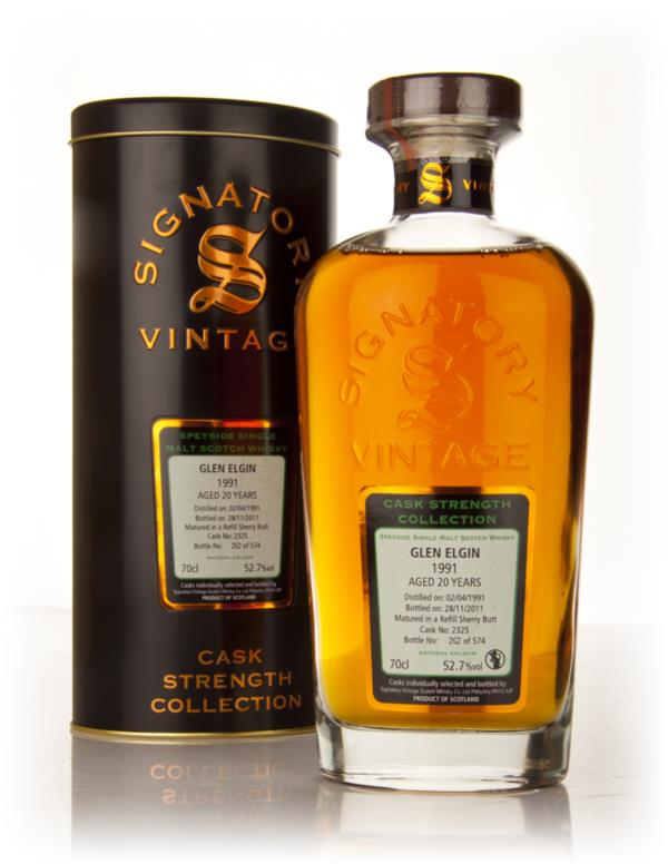 Glen Elgin 20 Year Old 1991 - Cask Strength Collection (Signatory) Single Malt Whisky
