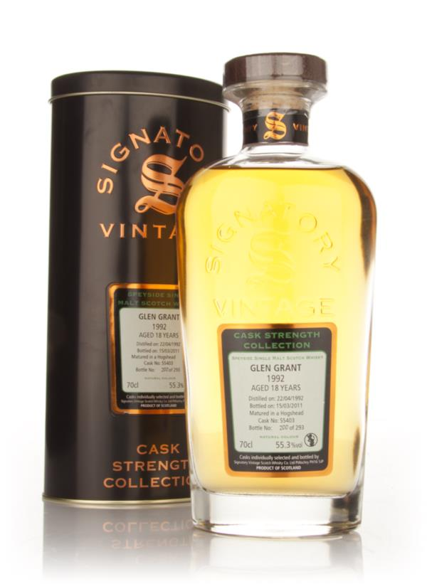 Glen Grant 18 Year Old 1992 Cask 55403 - Cask Strength Collection (Sig Single Malt Whisky