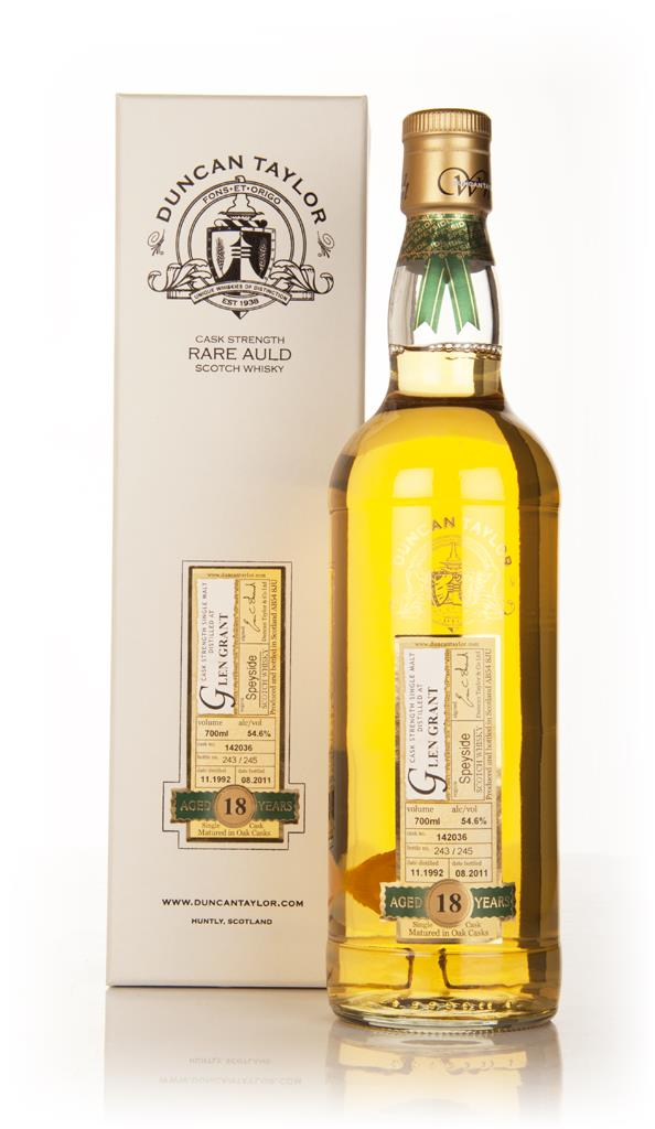 Glen Grant 18 Year Old 1992 - Rare Auld (Duncan Taylor) Single Malt Whisky