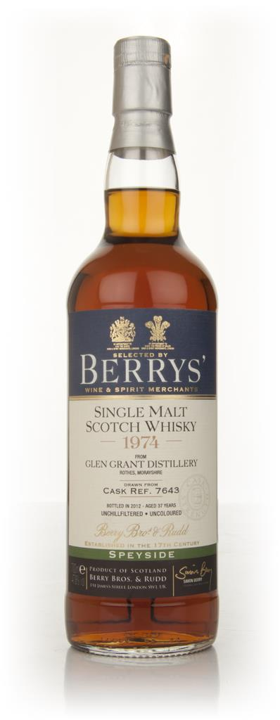 Glen Grant 37 Year Old 1974 Cask 7643 (Berry Bros. & Rudd) Single Malt Whisky