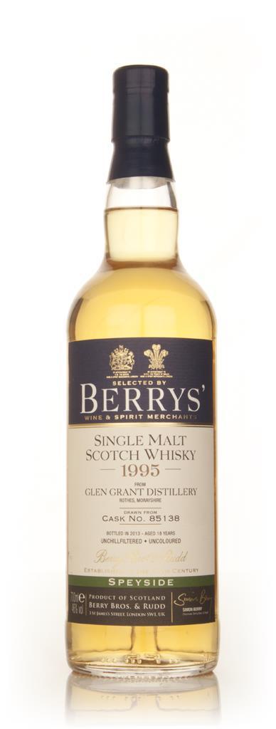 Glen Grant 18 Year Old 1995 (cask 85138) (Berry Bros. & Rudd) Single Malt Whisky