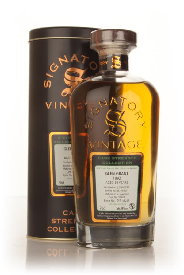 Glen Grant 19 Year Old 1992 - Cask Strength Collection (Signatory) Single Malt Whisky