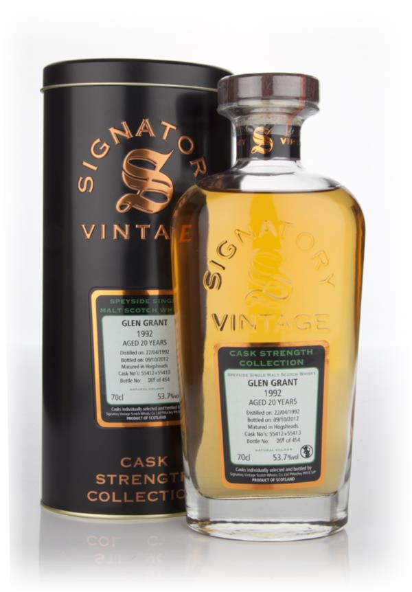 Glen Grant 20 Year Old 1992 - Cask Strength Collection (Signatory) Single Malt Whisky