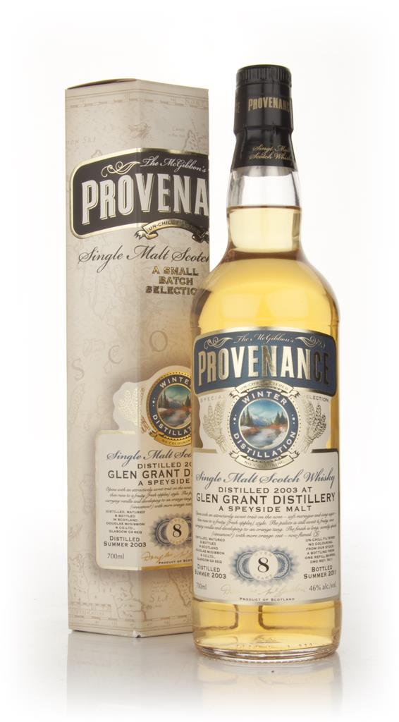 Glen Grant 8 Year Old 2003 - Provenance (Douglas Laing) Single Malt Whisky