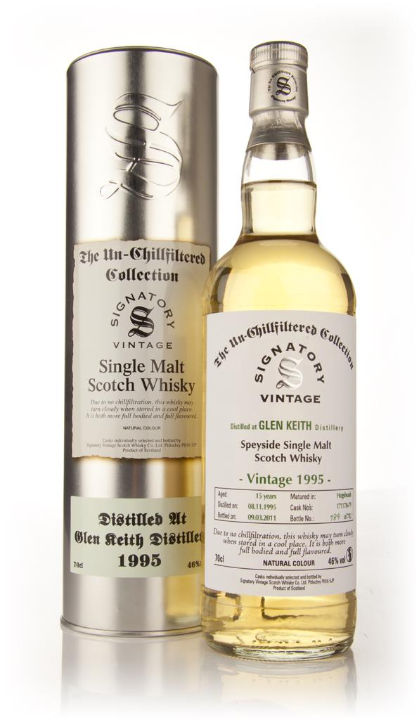 Glen Keith 15 Year Old 1995 - Un-Chillfiltered (Signatory) Single Malt Whisky