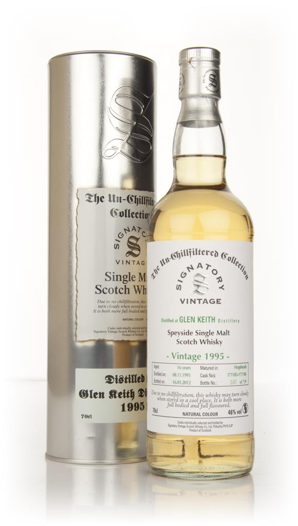 Glen Keith 16 Year Old 1995 - Un-Chillfiltered (Signatory) Single Malt Whisky