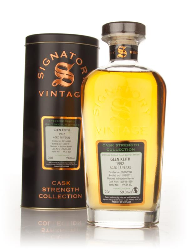 Glen Keith 18 Year Old 1992 - Cask Strength Collection (Signatory) Single Malt Whisky