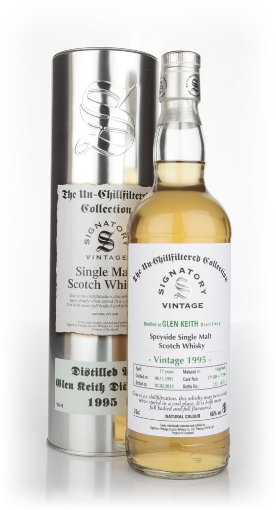 Glen Keith 17 Year Old 1995 - Un-Chillfiltered (Signatory) Single Malt Whisky