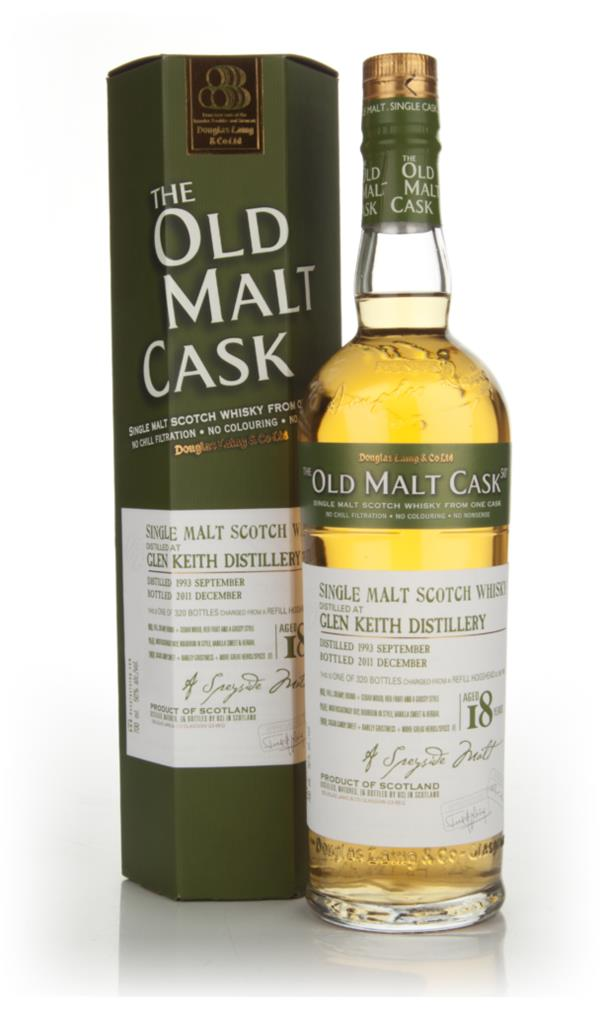Glen Keith 18 Year Old 1993 - Old Malt Cask (Douglas Laing) Single Malt Whisky