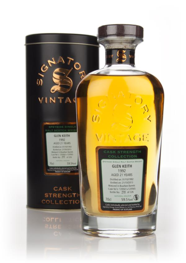 Glen Keith 21 Year Old 1992 (casks 120561+120565) - Cask Strength Coll Single Malt Whisky