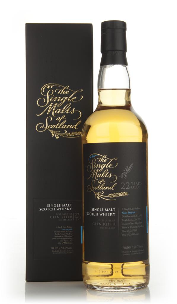 Glen Keith 22 Year Old 1989 - Single Malts of Scotland (Speciality Dri Single Malt Whisky