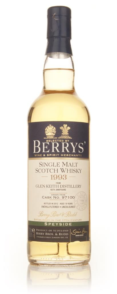 Glen Keith Distillery 18 Year Old 1993 (cask 97100) - (Berry Bros & Ru Single Malt Whisky