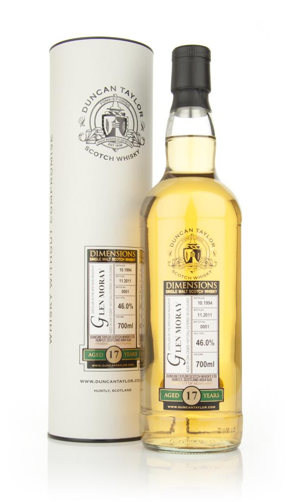 Glen Moray 17 Year Old 1994 - Dimensions (Duncan Taylor Single Malt Whisky
