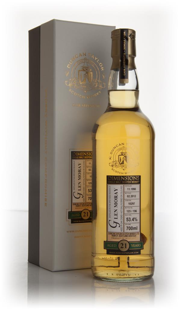 Glen Moray 21 Year Old 1990 - Dimensions (Duncan Taylor) Single Malt Whisky