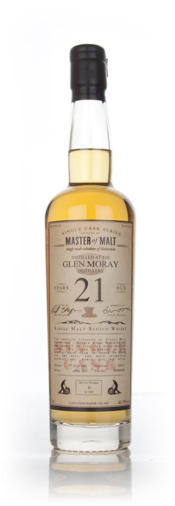Glen Moray 21 Year Old 1991 - Single Cask (Master of Malt) Single Malt Whisky