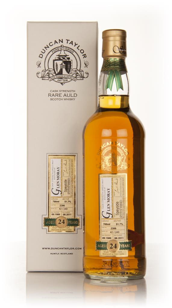 Glen Moray 24 Year Old 1986 Cask 2306 - Rare Auld (Duncan Taylor) Single Malt Whisky