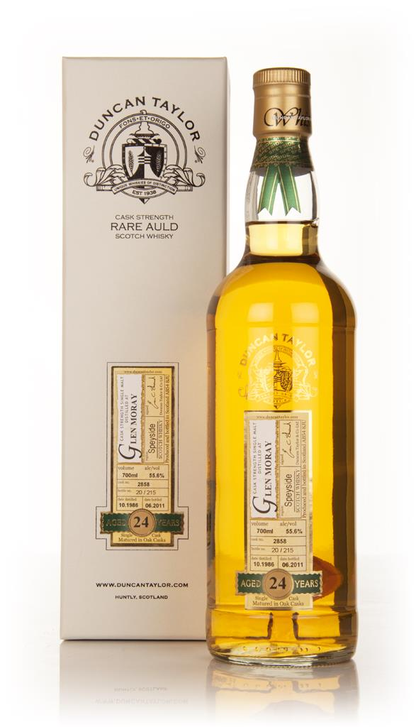 Glen Moray 24 Year Old 1986 Cask 2858 - Rare Auld (Duncan Taylor) Single Malt Whisky
