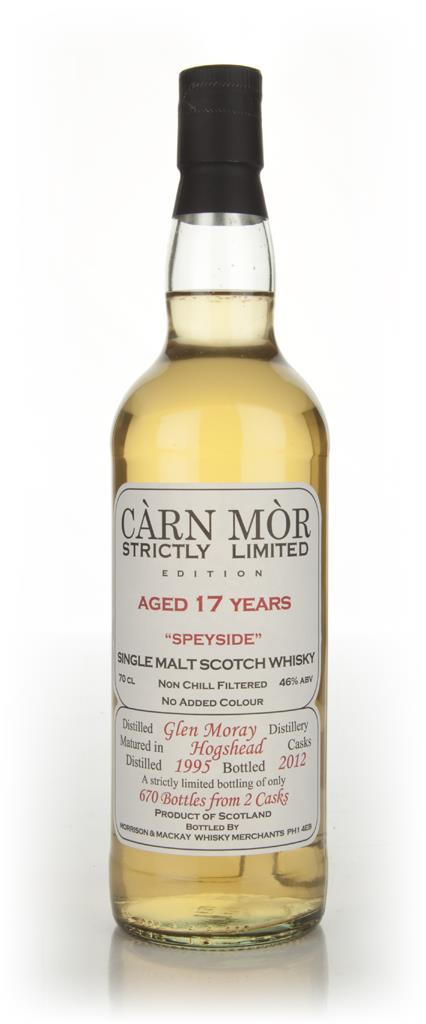 Glen Moray 17 Year Old 1995 - Strictly Limited (Carn Mor) Single Malt Whisky