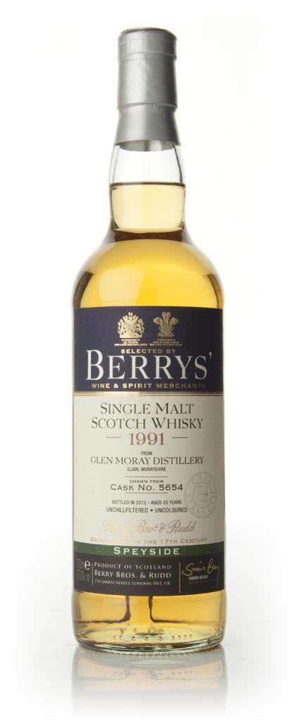 Glen Moray 20 Year Old 1991 - Berry Brothers and Rudd Single Malt Whisky