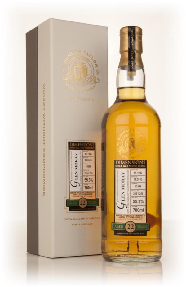 Glen Moray 22 Year Old 1990 (cask 10298) - Dimensions (Duncan Taylor) Single Malt Whisky