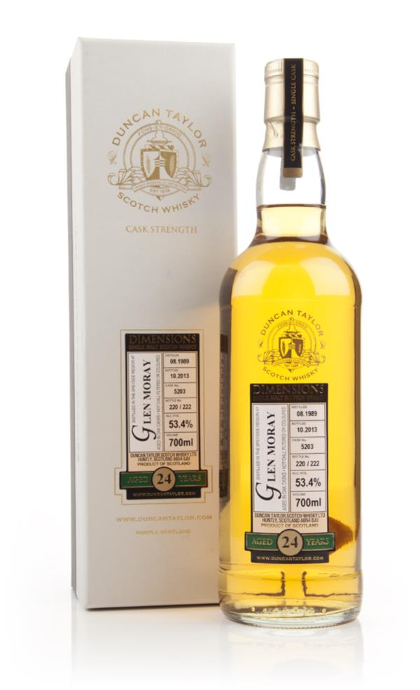 Glen Moray 24 Year Old 1989 (cask 5203) - Dimensions (Duncan Taylor) Single Malt Whisky