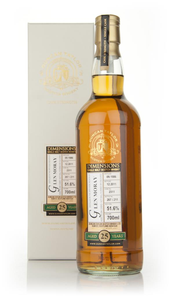 Glen Moray 25 Year Old 1986 - Dimensions (Duncan Taylor) Single Malt Whisky