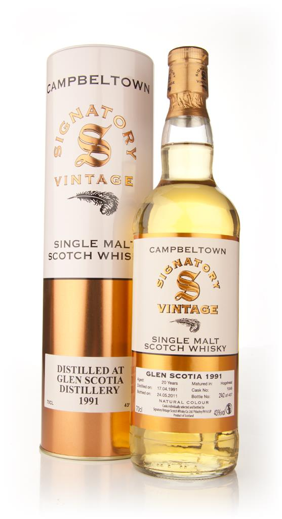 Glen Scotia 20 Year Old 1991 (Signatory) Single Malt Whisky