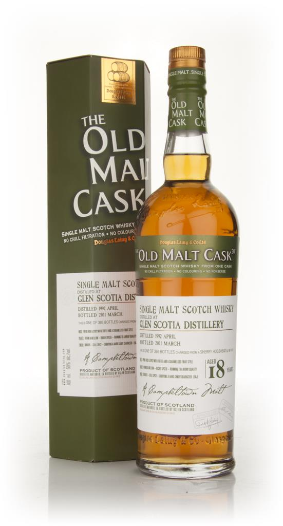Glen Scotia 18 Year Old 1992 - Old Malt Cask (Douglas Laing) Single Malt Whisky