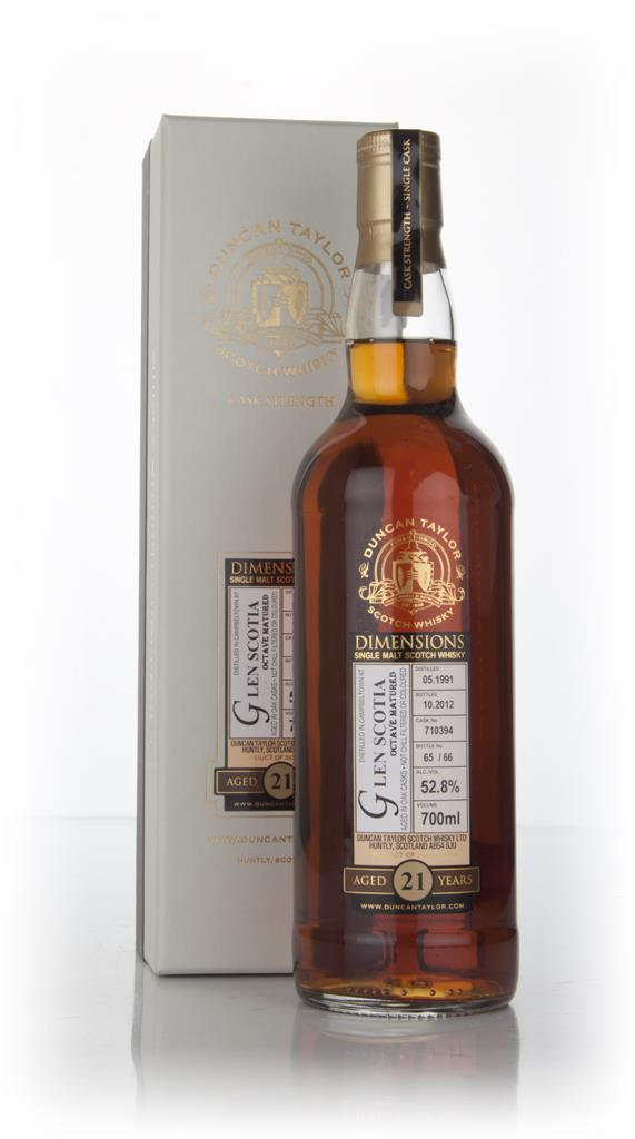 Glen Scotia 21 Year Old 1991 (cask 710394) - Dimensions (Duncan Taylor Single Malt Whisky