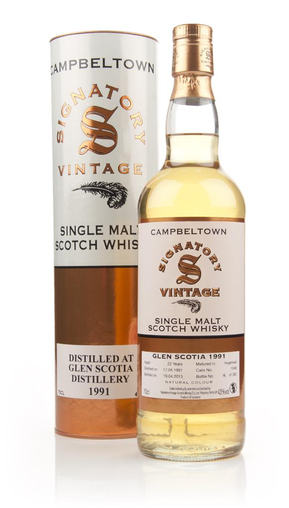 Glen Scotia 22 Year Old 1991 (cask 1046) (Signatory) Single Malt Whisky