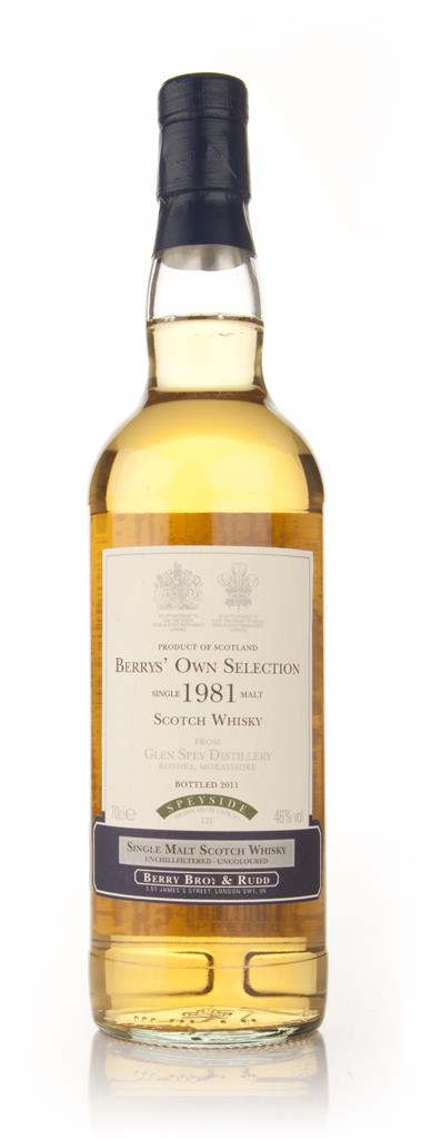 Glen Spey 1981 (Berry Brothers and Rudd) Single Malt Whisky