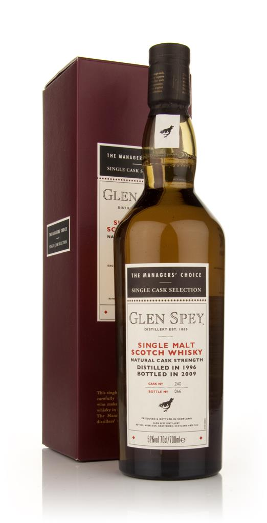 Glen Spey 1996 - Managers Choice Single Malt Whisky