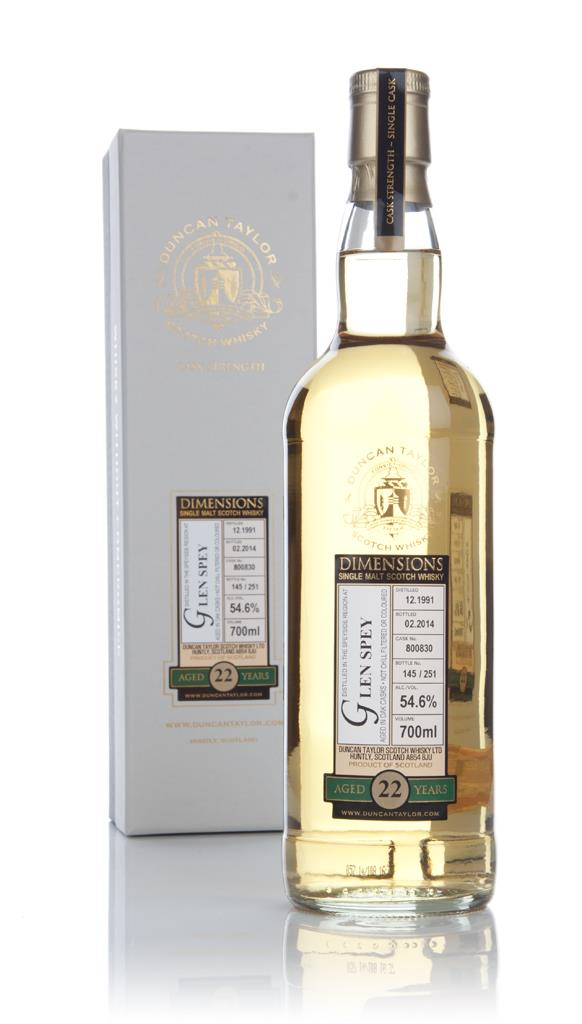 Glen Spey 22 Year Old 1991 (cask 800830) - Dimensions (Duncan Taylor) Single Malt Whisky 3cl Sample