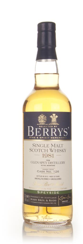 Glen Spey 32 Year Old 1981 (cask 126) - (Berry Bros. & Rudd) Single Malt Whisky