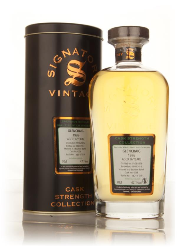 Glencraig 36 Year Old 1976 (cask 4258) - Cask Strength Collection (Sig Single Malt Whisky