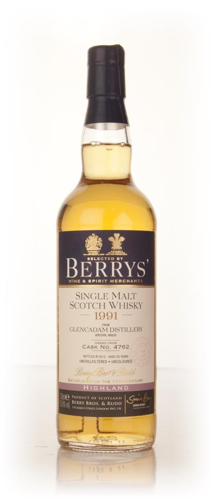 Glencadam 20 Year Old 1991 (cask 4762) (Berry Bros. & Rudd) Single Malt Whisky